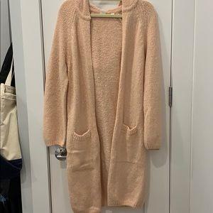 Gap Long Hooded Pink Sweater